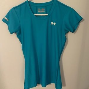 Under Armour women's size small blue fitted shirt